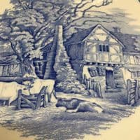 Spode | Blue Room Collection Plate | Rural Scenes